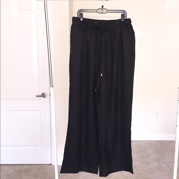 0f7c918e173 Ashley Stewart Wide Leg Linen Pants Plus Sz 20W